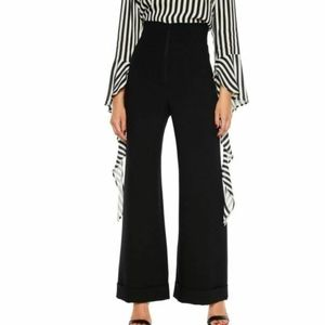 Bardot Black Stef Wide Flared High Rise Pants M
